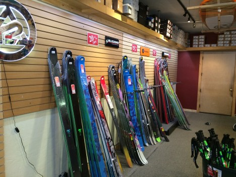 Moving the ski wall.  Soon to be the bike wall.